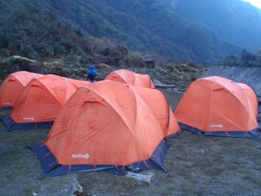First night in tents